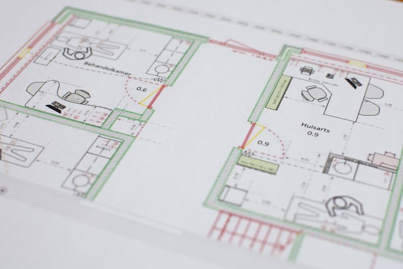 Ontwerp behandelkamer en huisartsenkamer